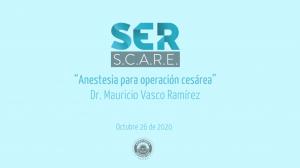 Anestesia para operación cesárea