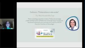 """7ma conferencia Jornada de bioética """"Profesionalismo en redes sociales"""""""